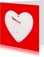 Sorry kaarten - Gebroken hart - op rood