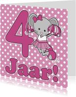 Verjaardagskaarten - Gefeliciteerd 4 jaar