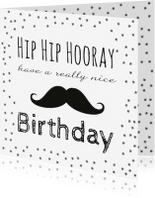 Verjaardagskaarten - Gefeliciteerd Kaart met Snor