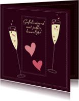 Felicitatiekaarten - Gefeliciteerd met jullie huwelijk C