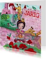 Kinderkaarten - Gefeliciteerd Thee Bloemen Illustratie S