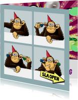 Verjaardagskaarten - Gekke aap - BEKIJK DE BINNENKANT