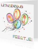 Kinderfeestjes - Gekleurde ballonnen en confetti