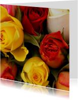 Bloemenkaarten - Gekleurde rozen Anet Fotografie