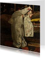 Kunstkaarten - George Breitner. Meisje in witte kimono