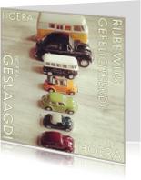 Geslaagd kaarten - Geslaagd auto instagramstijl