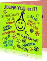 Geslaagd kaarten - Geslaagd blij en gelukkig IW