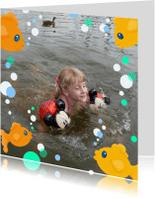 Geslaagd kaarten - Geslaagd Fotokaders Visjes