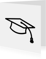Geslaagd kaarten - Geslaagd hoed