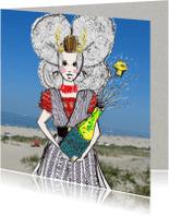 Geslaagd kaarten - Geslaagd kaart Zeeuws meisje