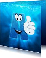 Geslaagd kaarten - Geslaagd - Zwemdiploma A water