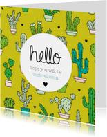Beterschapskaarten - Get well soon cactus