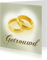 Trouwkaarten - Getrouwd ringen