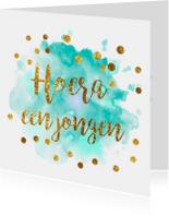 Felicitatiekaarten - gouden confetti felicitatiekaart