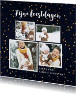 Kerstkaarten - Gouden stippen met  4 foto's - SU