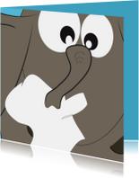 Beterschapskaarten - Grappige beterschapskaart met een verkouden olifant - Mocard
