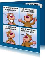 Grappige beterschapskaart met leuke beer als stripverhaal