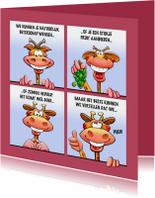 Beterschapskaarten - Grappige beterschapskaart met leuke dieren als stripverhaal