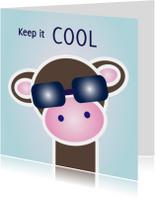 Dierenkaarten - Grappige kaart met hippe aap