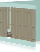 Sterkte kaarten - Sterkte kaart met kat klem tussen schutting