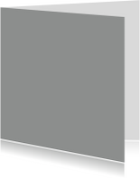 Blanco kaarten - Grijs enkel vierkant
