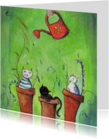 Dierenkaarten - Growing cats
