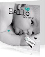 Geboortekaartjes - Hallo, lieve mooie baby