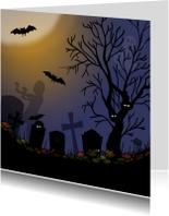 Halloween kaarten - Halloween kerkhof