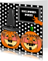 Halloween kaarten - Halloween party dots
