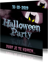 Halloween kaarten - HALLOWEEN PARTY durf je te komen