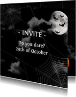 Halloween kaarten - Halloween Uitnodiging Nacht