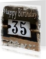 Verjaardagskaarten - happy birthday 35x