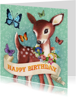 Verjaardagskaarten - Happy birthday hertje