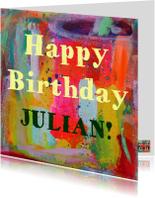 Verjaardagskaarten - Happy Birthday Julian