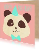 Verjaardagskaarten - happy birthday panda