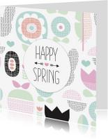 Bloemenkaarten - Happy Spring bloemen lente