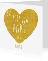 Bedankkaartjes - Hart van goud hart