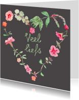 Zomaar kaarten - Hartje van bloemen zomaar kaart