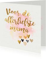 Moederdag kaarten - hartjes moederdagkaart
