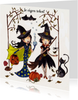Halloween kaarten - Heksenfeestje by Cartita Design