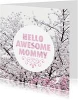 Moederdag kaarten - Hello mommy moederdag kaart