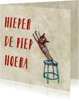 Verjaardagskaarten - Hieper de Piep Hoera