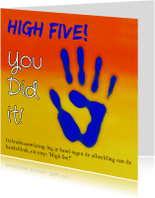 Geslaagd kaarten - High five, you did it!