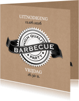 Uitnodigingen - High quality BBQ-isf