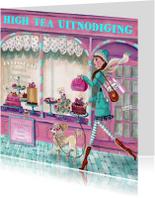 Uitnodigingen - High Tea Patisserie Cupcake Illustratie