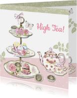 Uitnodigingen - High Tea taartenstandaard