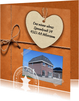 Verhuiskaarten - Hip verhuiskaartje met eigen foto
