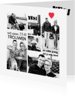 Trouwkaarten - Hippe foto trouwkaart