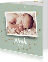Geboortekaartjes - Hippe geboortekaart jongen