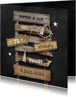 Uitnodigingen - Hippe Uitnodiging Drijfhout 1 - OT